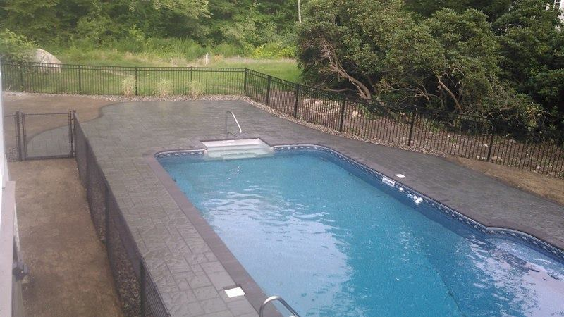 square shaped pool installation project